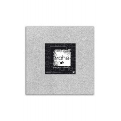 Glitter papel adhesivo color plata, Mahé 30x30